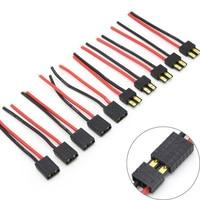 Conector de silicone com cabo de 10cm 14awg, conector macho e fêmea 5 tamanhos para bateria rc/drone rc