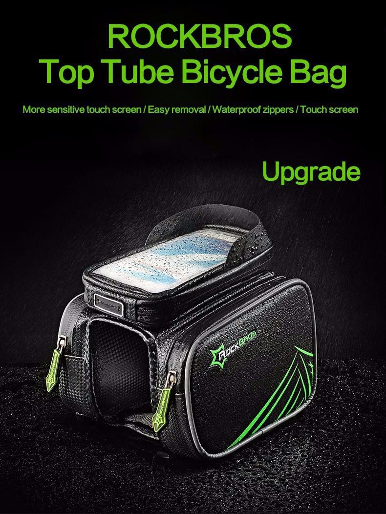Rockbros mtb rama roweru przodu torba głowy górna rura podwójna IPouch Dotykowy Kolarstwo Pannier Dla 5.8/6 cal Smartfon Dotykowy ekran 1