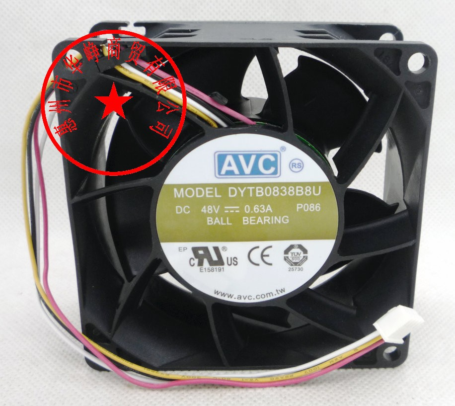 New Original AVC 8038 48v 0.63a DYTB0838B8U 4wire Cooling Fan