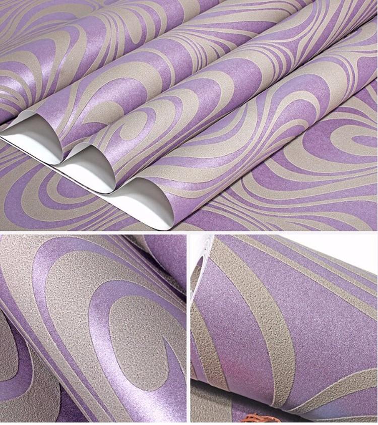 Wysokiej jakości 0.7 m * 8.4 m nowoczesny luksus 3d tapety rolki mural papel de parede uciekają na paski ściany papier 5 kolor r136 28