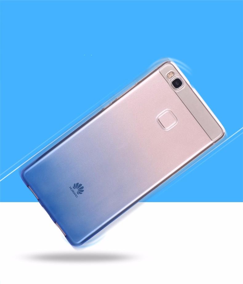 Ultra-cienki przezroczysty miękka tpu case dla huawei p8 p9 plus p8 lite krzemu gradientu telefon ochronna pokrywa dla huawei p9 Shell 3