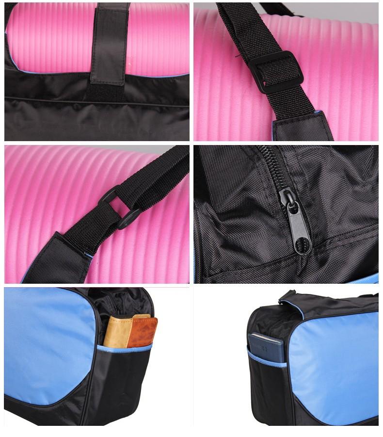 Mata yoga bag wodoodporny plecak na ramię messenger torba sportowa dla kobiet fitness ubrania siłownia duffel torba (nie yoga mat) 7