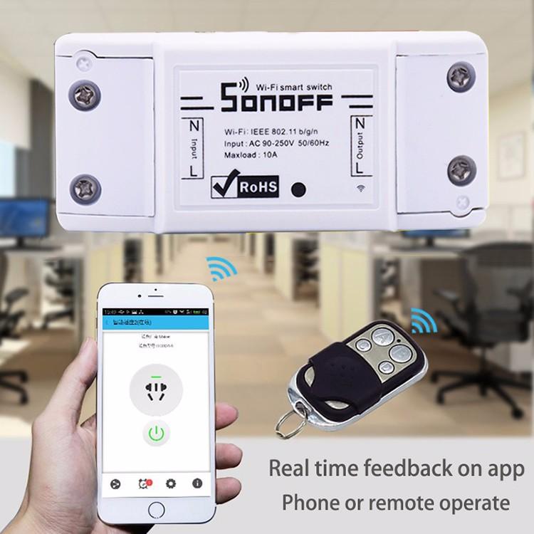 Itead Sonoff Inteligentny Wifi Przełącznik Czasowy Inteligentny Uniwersalny Bezprzewodowy Przełącznik DIY MQTT COAP Android IOS Zdalnego Sterowania Inteligentnego Domu 3