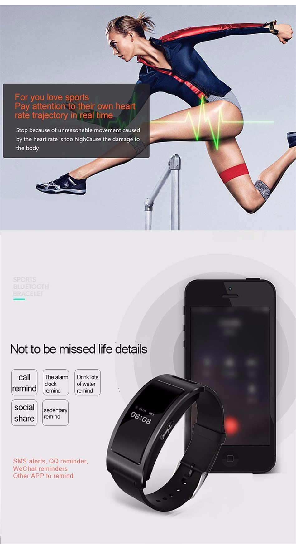 Bluetooth smart watch bransoletka zespołu blood pressure monitor tętna ck11 smartwatch krokomierz fitness dla ios android 5