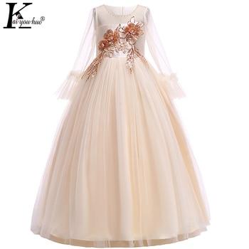 9e0ba1d940824 Girls Wedding Dress Elegant Children Clothing Girls Christmas Dress