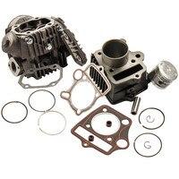 Kit de reconstrução do motor de pistão cabeça do cilindro de 70cc, para honda atc70 crf70 ct70 c70 s65 crf70f sl70 xl70 70cc 12101098671 12101087000