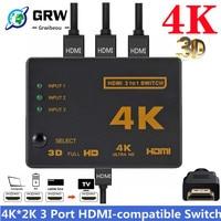 4K 2K 3x1 HDMI Kabel Splitter HD 1080P Video Switcher Adapter 3 Eingang 1 Ausgang port HDMI Hub für Xbox PS4 DVD HDTV PC Laptop TV