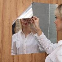 하하 모양 부드러운 거울 스티커, 전신 거울 연습 셀프 접착 벽 스티커 Diy 홈 데코