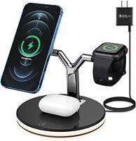 25W 3 in 1 Magnet Qi Schnelle Drahtlose Ladegerät Für Iphone 12 Mini Pro MAX Ladestation Für Apple uhr 6 5 4 3 2 1 AirPods Pro