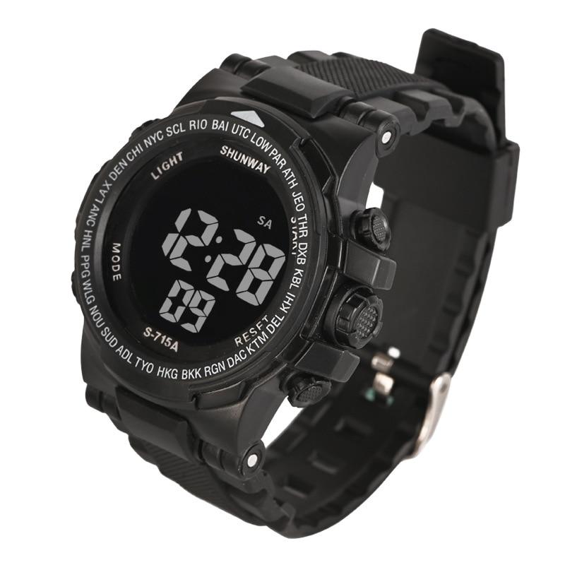 UTHAI CE16-reloj digital deportivo para hombre, relojes electrónicos, de pulsera, con luz LED nocturna, cronómetro