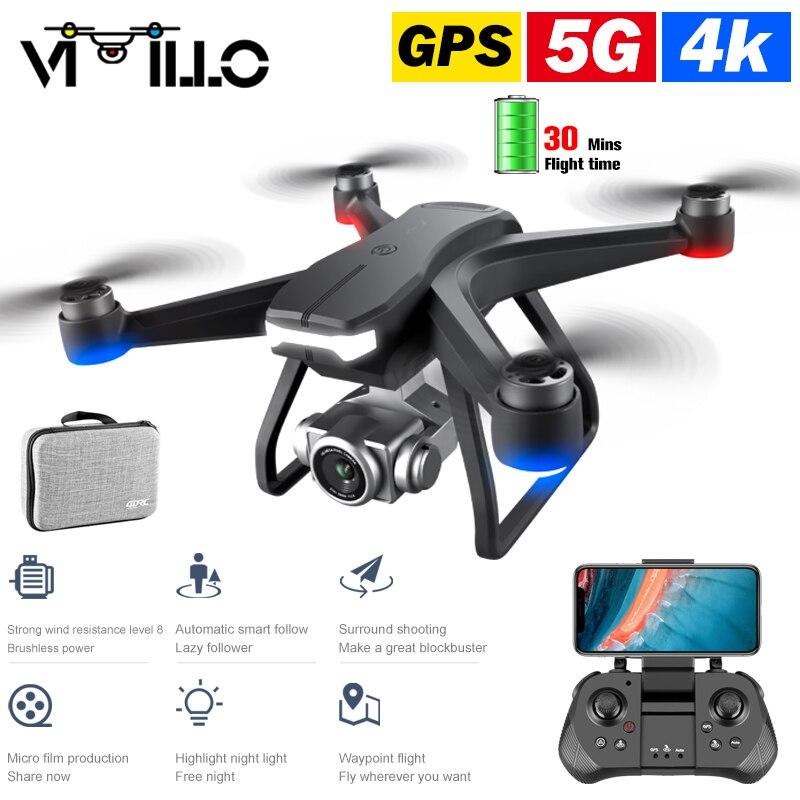 F11-Dron cuadricóptero con cámara profesional 4K HD, 5G, WIFI, FPV, transporte de imágenes, Motor sin escobillas, plegable, GPS, juguetes, 2021