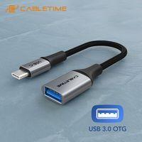 Cabletime OTG Adapter Tpye C USB 3,0 Weibliche Adapter Schnelle Ladung Kabel 5GBPS Schnelle Daten für Xiaomi Mix 3 huawei C380