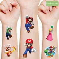 super mario bros Luigi Yoshi original Tattoo sticker random 1PCS action toys figure Cartoon kids Christmas birthday party gifts