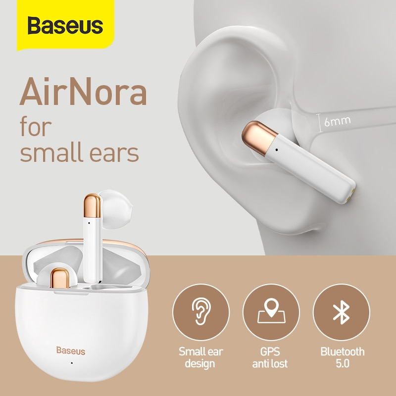 Baseus-auriculares inalámbricos W2 TWS con Bluetooth, dispositivos deportivos con aplicación antipérdida para Huawei, Iphone y Xiaomi