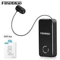 Fineblue F2 פרו אלחוטי Bluetooth 5.0 אוזניות ספורט נהג אוזניות טלסקופי קליפ על סטריאו Earbud רטט יוקרה