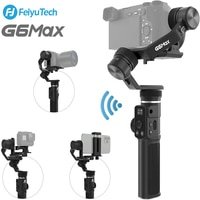 Feiyutech G6 MAX 3 Axis Splash-Proof Handheld Gimbal Stabiliser for GoPro Action Camera/phones/Mirrorless Cameras/Pocket Camera