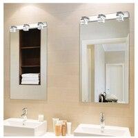Jusheng led 벽 빛 욕실 거울 램프 따뜻한 화이트/쿨 화이트 화장실 벽 램프 비품 크리스탈 메이크업 거울 조명