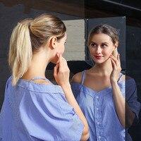 부드러운 거울 스티커 거울 전신 거울 연습 접착제 거울 자기 접착 벽 스티커 연습 방 무대 레이아웃