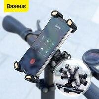 Baseus אופנוע טלפון מחזיק אוטומטי נעילת רכיבה על הר חשמלי רכב כידון אחורית מראה קליפ סוגר אופניים ניווט