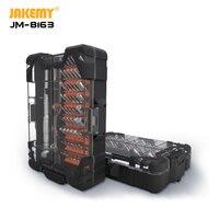 JAKEMY 2020 신제품 JM-8163 62 IN 1 정밀 S-2 스크루 드라이버 세트 홈 전자 DIY 수리 용 고유 오픈 버튼