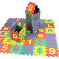 36pcs Kids Mini EVA Alphabet Numbers Foam Floor Baby 3D Letters Puzzle Mat Soft Children Baby Crawling Mat Educational Toys