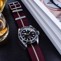 원피스 싱글 패스 조정 가능한 경사 나일론 나토 스트랩 20mm 22mm, 튜더 패브릭 시계 밴드용