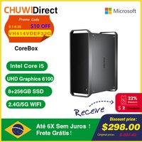 CHUWI CoreBox Windows 10 PC Gamer Intel Core i5 4K Dekodierung 8GB RAM 256GB SSD Desktop-Computer dual HDMI 2,4G/5G Dual-band WiFi