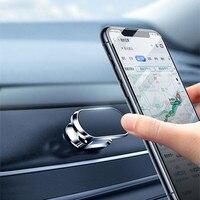 מתכת מגנטי טלפון מחזיק 360 סיבוב רכב מחזיק טלפון Stand אבץ סגסוגת מגנט רכב תמיכה מתאים לכל טלפונים ניידים