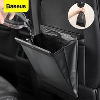 Baseus רכב Organzier מושב אחורי שקית אחסון מגנטי אוטומטי כיס מחזיק רכב אביזרי רכב פח אשפה פח אשפה רכב תיק