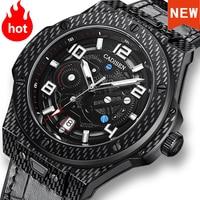 CADISEN 2021 Men Watches Automatic Mechanical Luxury Brand 100m Waterproof Swim Sapphire Japan NH35A Genuine Leather Sport Watch