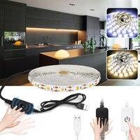 Waterproof Touch Or Hand Sweep Sensor Dimmable Led Strip Light 5V USB Tira Led Tape For Kitchen TV Backlight Bathroom Mirror