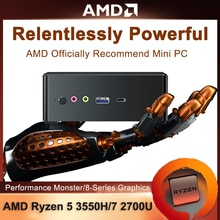 2021 neue Günstige Mini Pc AMD Ryzen R5 3550H R7 2700U Vega 10 Grafik 2 * DDR4 M.2 NVMe gaming Computer Window10 4K HDMI 2,0 DP TYPE-C