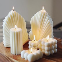 Bricolage créatif en Silicone en forme de coquille de corail, motif lune, bande d'amour, pétoncle, bougie aromatique, en résine, savon artisanal, fournitures, cadeau, décoration de maison