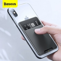 Baseusユニバーサル電話バックスロットカード財布ケースiphone x xs高級3 3mステッカーシリコーン電話ポーチケースサムスンxiaomi