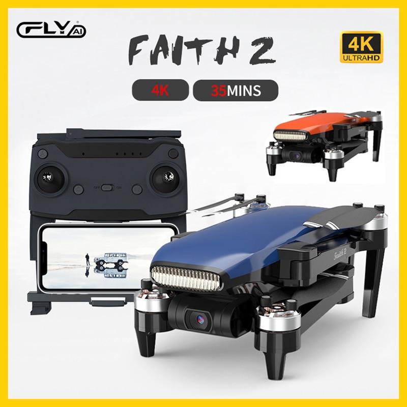 Cfly FAITH2 5G WIFI Drone 5KM FPV GPS Drone 4k Profesional Kamera 3-Achsen Stabile Gimbal flug RC Eders Quadcopter RTF FLY Glauben 2