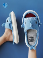 Mo Dou 2021 New Summer/Spring Slippers Open Toe Cute Cartoon Shark Shape EVA Thick Sole Indoor Quality Designer Shoes Women Men