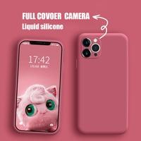 IPhone用液体シリコンケース,カメラ保護対応の公式品質ケース13 11 12 pro max x xs xr 8 7 6 6s plus 5s se