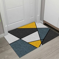 New Geometric Printed Doormat Living Room Anti-slip Carpet Absorbent Bath Mat Bedroom Kitchen Rug Decorative Welcome Mats