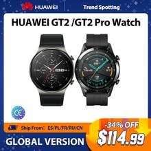 HUAWEI Uhr GT 2 Pro/GT2 SmartWatch 14 Tage Batterie Lebensdauer GPS Blut Sauerstoff Drahtlose Lade Kirin A1 Globale version Original