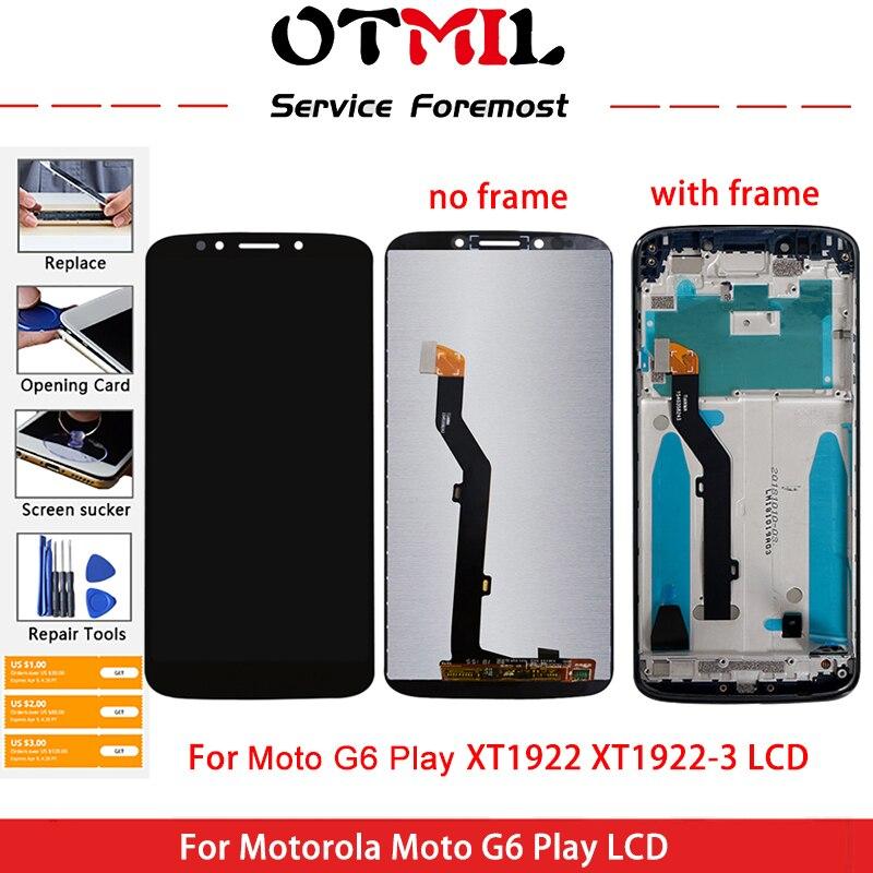 OTMIL-pantalla LCD de 5,7 pulgadas para Moto G6 Play, montaje de pantalla táctil para Moto G6 Play, XT1922 XT1922-3 XT1922-4