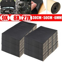 9X 1cm 0.6cm רכב צליל חם Deadener Mat רעש הוכחת מצנפת בידוד מקהת מנוע חומת אש חום קצף כותנה מדבקת 30x50cm