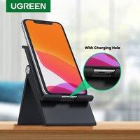 UGREEN טלפון Stand מחזיק טלפון סלולרי שולחן Dock Stand עבור iPhone 11 פרו מקס SE 8 7 מתכוונן מתקפל נייד מחזיק טלפון Stand