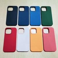 IPhone 13 Pro Max 13 mini 1:1用携帯電話ケース,デラックス液体シリコンケース,ワイヤレス充電ケース