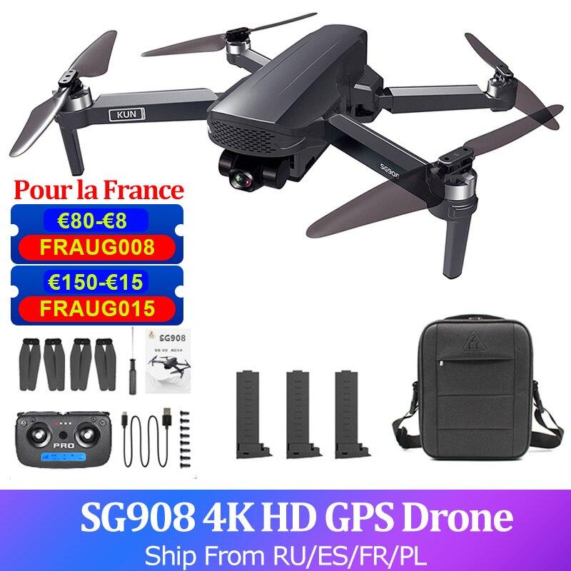 SG908 GPS Drone 4K Kamera 3-Achsen Gimbal Bürstenlosen FPV 5G PRO Quadcopter Dual Kamera Drone Hubschrauber 1,2 km 28 minuten Fernbedienung Flug