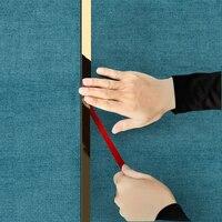 5 미터 스테인레스 스틸 플랫 장식 라인 블랙 티타늄 골드 배경 벽 천장 가장자리 스트립 가장자리 스트립 자체 접착