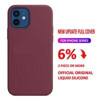 Logo Officiële Originele Siliconen Case Voor Iphone 12 Pro X Xs Max Xr 7 8 Plus Case Voor Iphone 12 mini 11 Pro Max Se 2020 Case