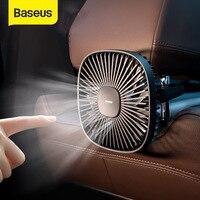 Baseus מגנטי רכב אוויר קירור מאוורר 360 סיבוב חזרה מושב Cooler מאוורר עם 1000mAh סוללה עבור אוטומטי מזגן cooler מאוורר