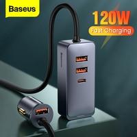 Baseus-カーチャージャー120w,iphone 12 pro xiaomi samsung携帯電話用の延長コード付き急速充電器