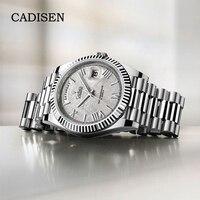 CADISEN 2021 Men's Watches Automatic Brand Luxury Stainless Steel Mechanical Watch For Men MIYOTA 8285 Sport Relogio Masculino