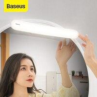 Baseus-USB LED 거울 조명, 메이크업 거울, 화장대 조명, 조절 가능한 거울 램프, 휴대용 메이크업 조명, 욕실 화장대